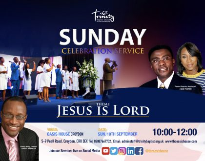 Sunday 10th September  Celebration Service