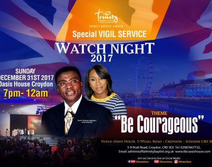 Watchnight Service at TBC Oasis House- Croydon