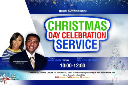 Christmas Day Service at tbcoasishouse-Croydon