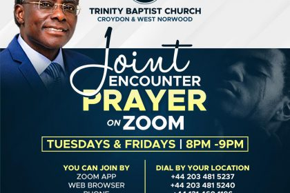 Friday Encounter Prayer Service On Zoom