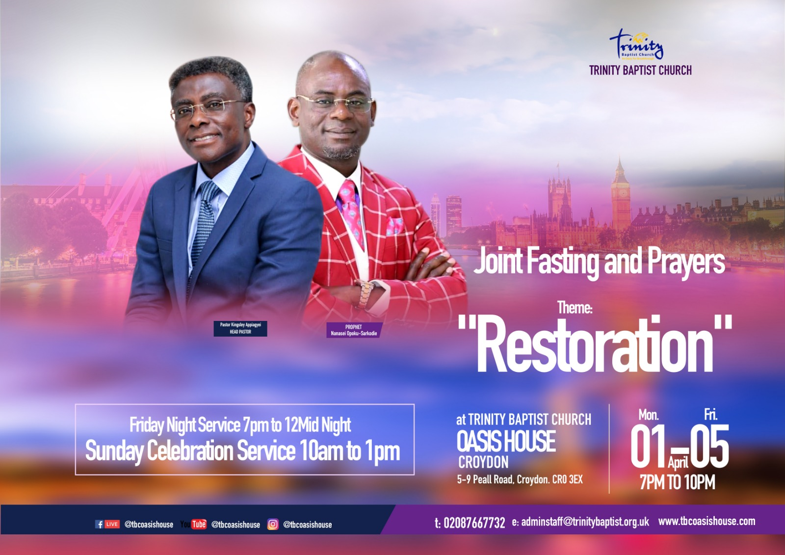 Joint Fasting & Prayers Service with Prophet Nanasei