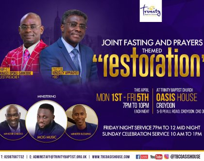 Joint Prayer and Fasting Services With Prophet Nanasei Opoku Sarkodie on 1st - 5th Apr 2019
