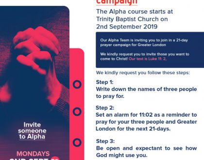Prayers for Alpha 2019