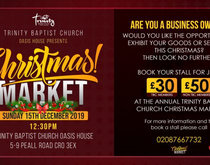 Christmas Market On The 15th December 2019