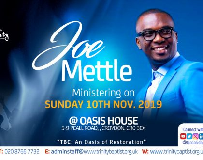 Joe Mettle Ministering At Oasis House Croydon