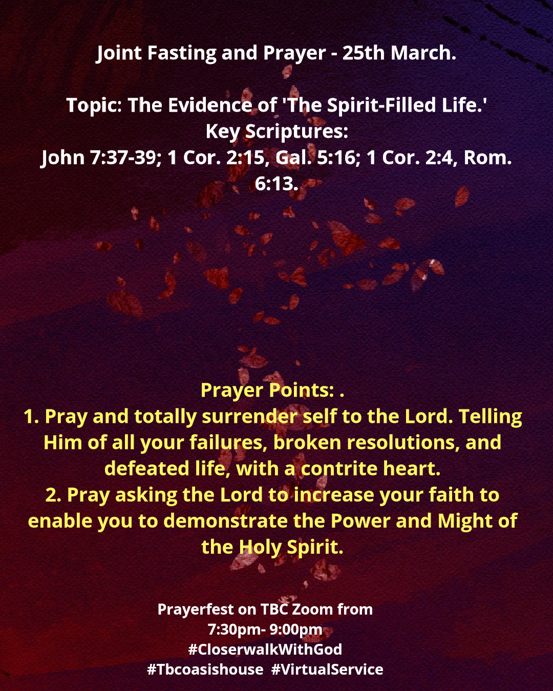 Joint Fasting and Prayer - Prayerfest Day 2