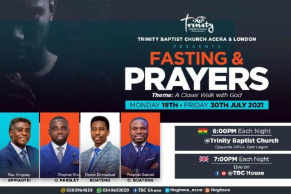 Joint Fasting and Prayer - July 21